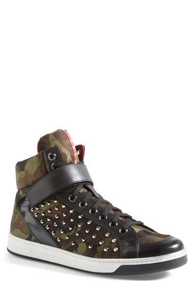 f6147ef2c1396 Prada Studded Camo Print Sneaker (Men) available at #Nordstrom ...