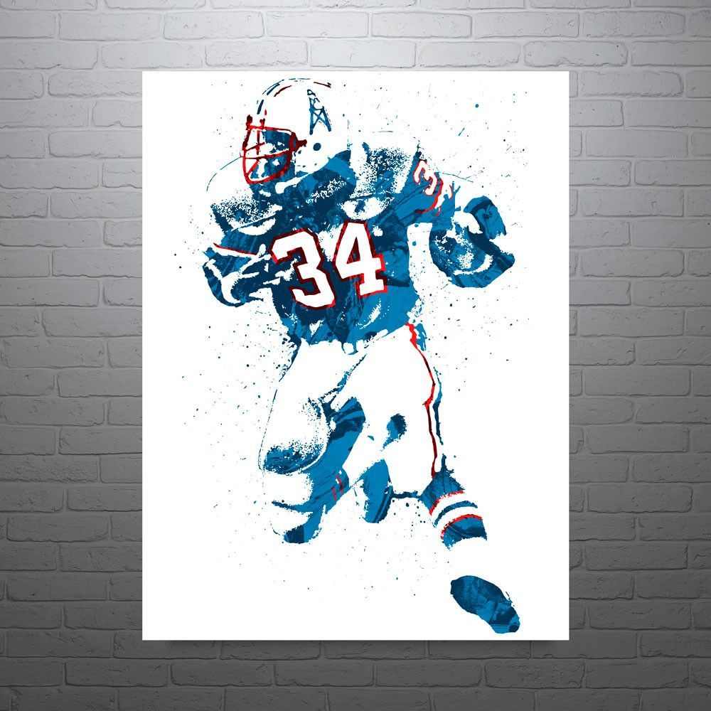 Earl campbell poster nicknamed the tyler rose is a former american jpg  1000x1000 Earl campbell art 918e03882
