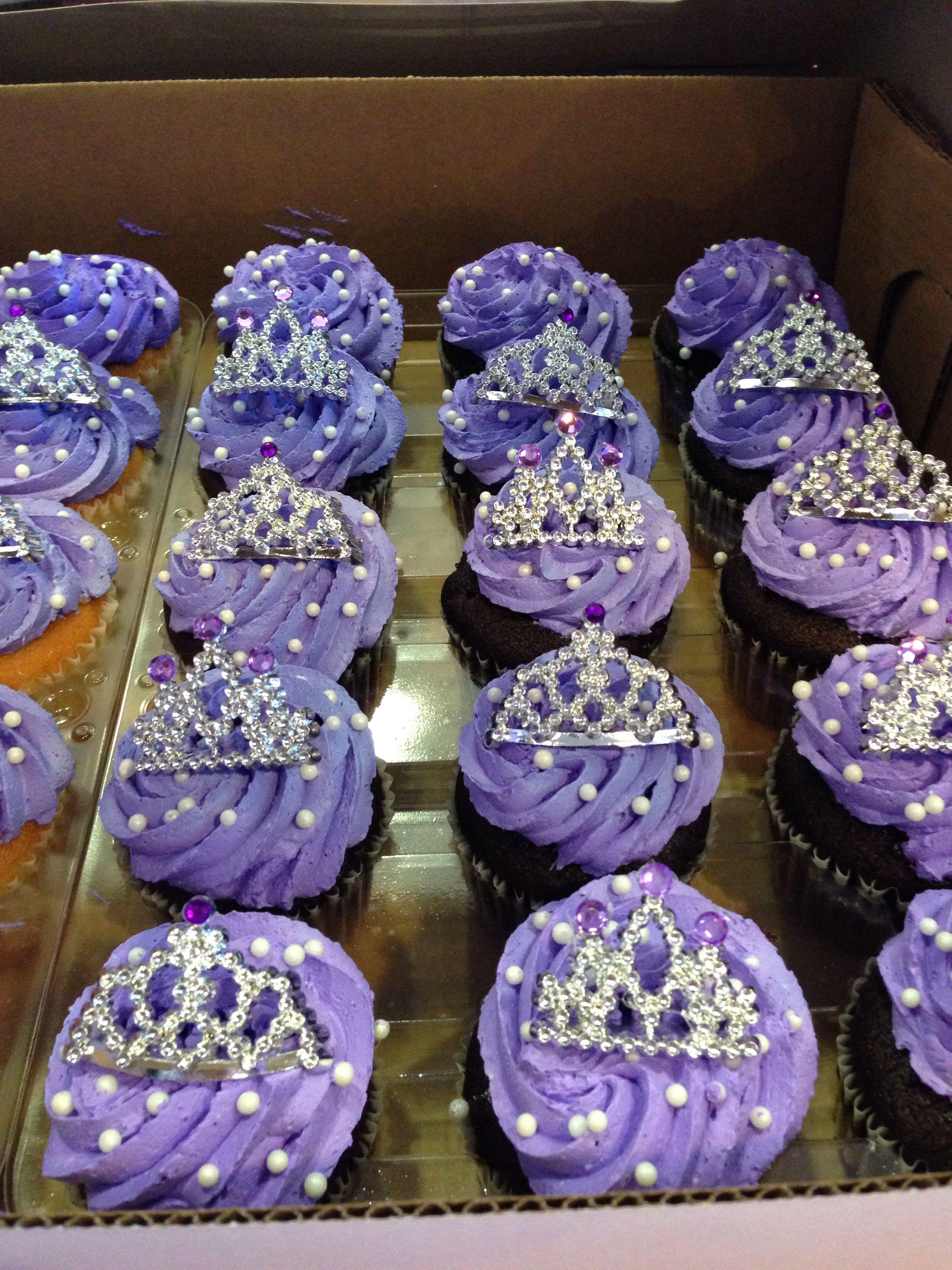 sofia the first birthday cupcakes