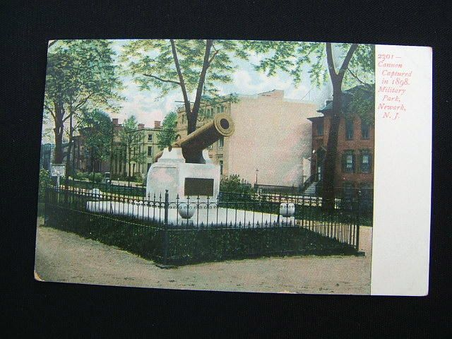 Old Photos of Newark NJ | Old Postcard-Military Park Cannon-Newark,New Jersey/NJ
