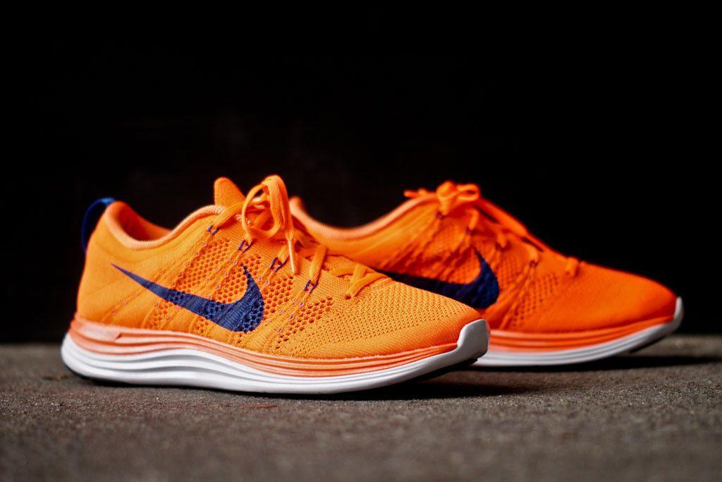 sale retailer 52a5f 92d30 NIKE Flyknit Lunar 1 - Total Orange   Sneaker   Kith NYC