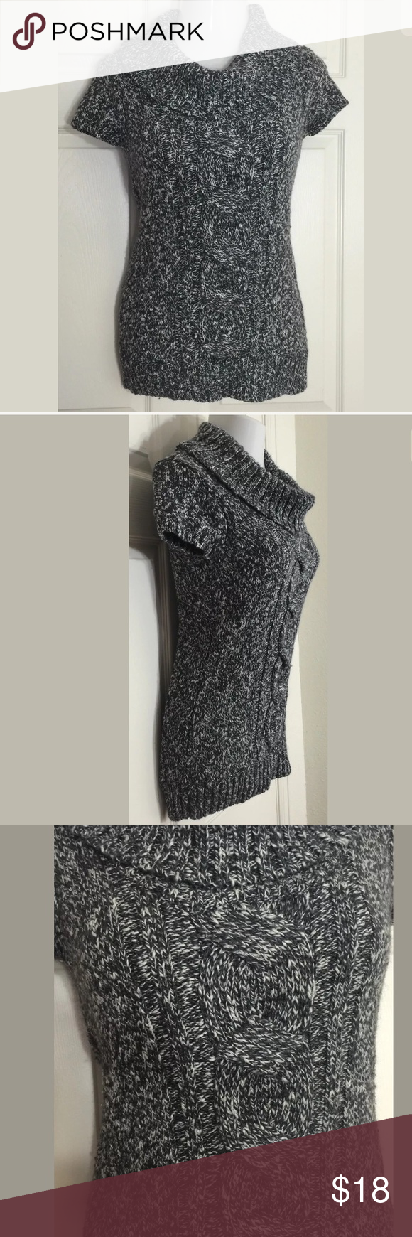 INC International Concepts Gray Cowl-Neck Sweater Cute dressy ...