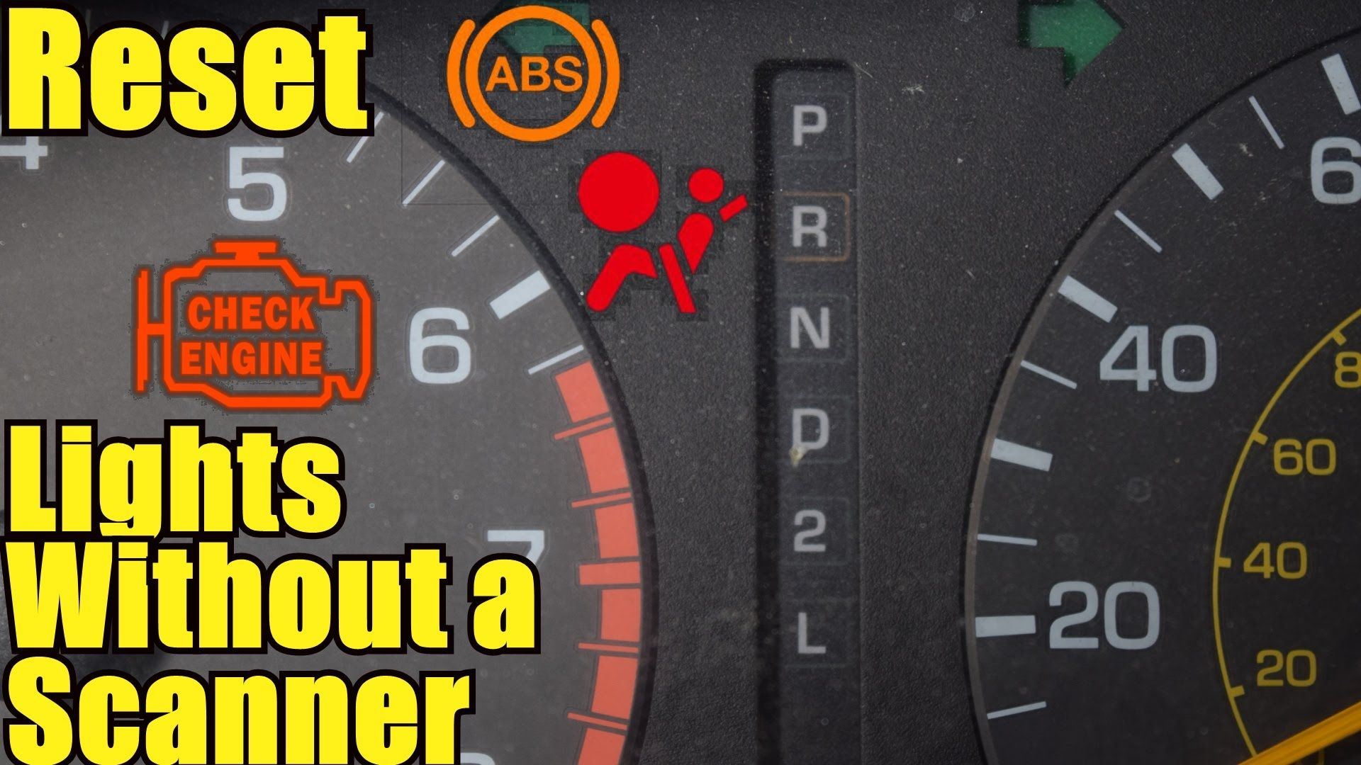 How to Reset the Check Engine, ABS and Airbag Light - Without a