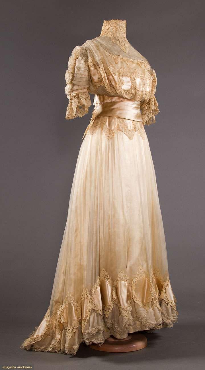 Silk u brussels lace wedding gown nyc edwardian u teens