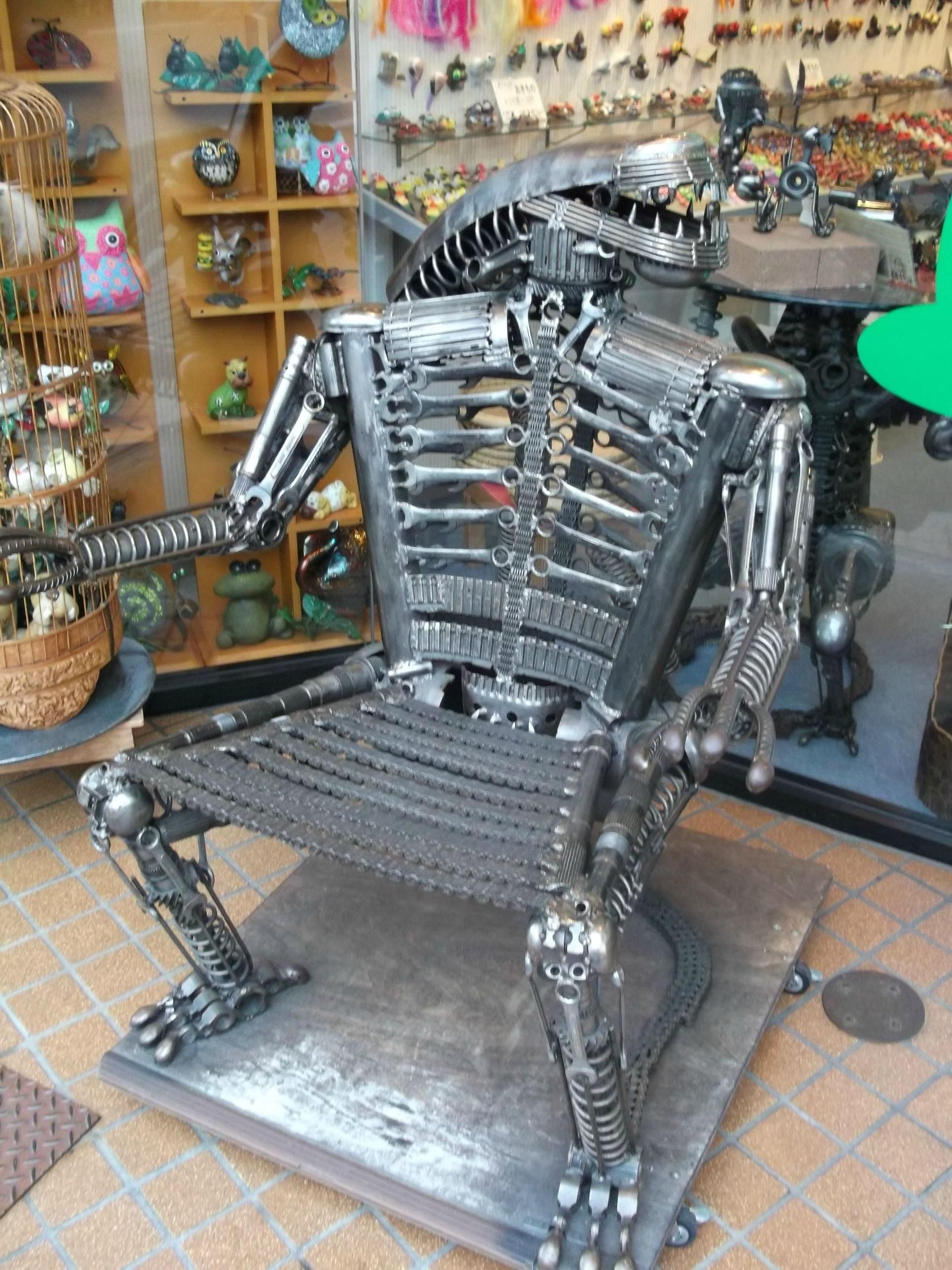 Found Possibly The Coolest Chair In Takayama Japan Welding Projects Metal Projects Metal Welding
