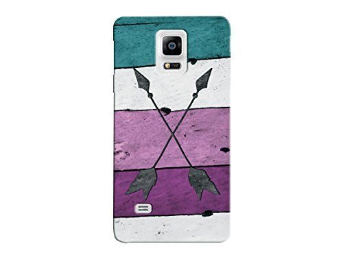 Arrow Crossed Aztec Wood Pattern Phone Case - For Samsung Note 4 Back Cover. Hard Rigid Plastic. Made & Shipped In USA. Low Profile Design - Snap On Cover. Case shown is for illustration purposes, your case will fit your specific case model. High Quality Image (Textures like wood are high quality print not actual wood but you will have everyone fooled).