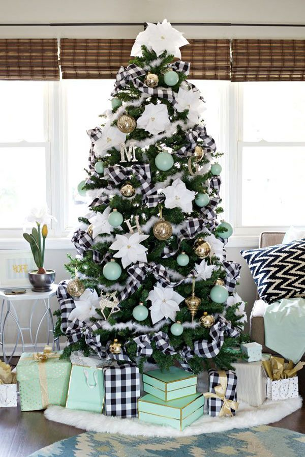 Black And White Buffalo Check Tree Plaid Christmas Decor Simple Christmas Tree Cool Christmas Trees