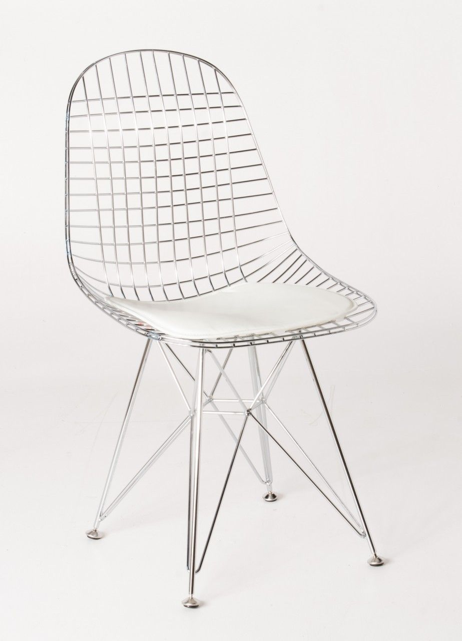 Replica ray u charles eames eiffel wire chair powdercoated white