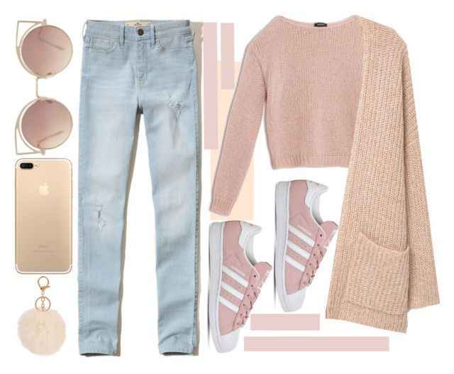 """""""Без названия #11"""" by maggdalene ❤ liked on Polyvore featuring Post-It, Hollister Co., Max&Co., adidas, MANGO and Armitage Avenue"""