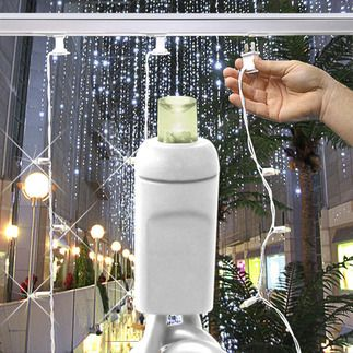 Warm White Twinkling 120 Volt 35 Led Bulbs Wide Angle Lens Length 11 Ft Bulb Spacing 4 In Led Curtain Lights Icicle Lights Icicle Christmas Lights