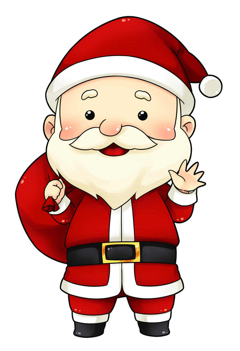 You can use this cute and adorable Santa clip art on