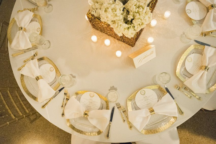add gold flatware to your place settings for a glam look gold