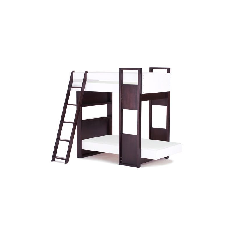 Furniture :: By type :: BUNK BEDS :: UFFIZI BUNK BED - ebony support / white beds -