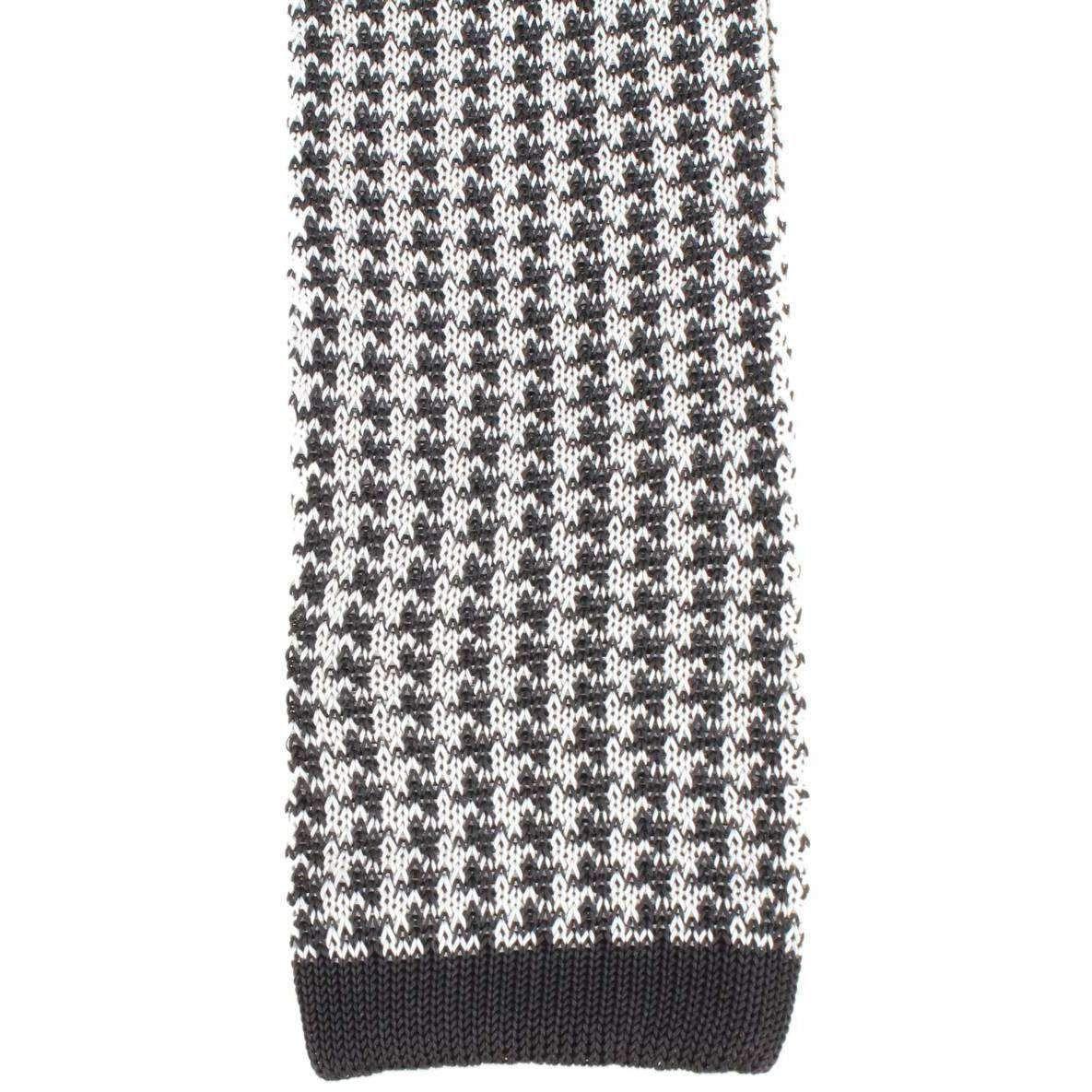 Knightsbridge Neckwear Silk Knitted Houndstooth Tie ...