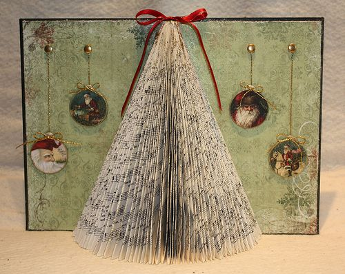 Altered Books As Christmas Decor Book Christmas Tree Book Page Crafts Folded Book Art