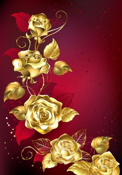 Wallpaper By Artist Unknown Flower Drawing Red Background Rose Wallpaper Beautiful rose gold roses wallpaper for