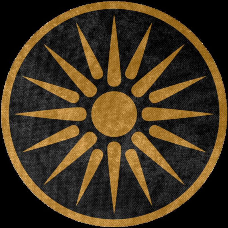 Ancient Greek Empire Symbols Macedon Total War War Flag