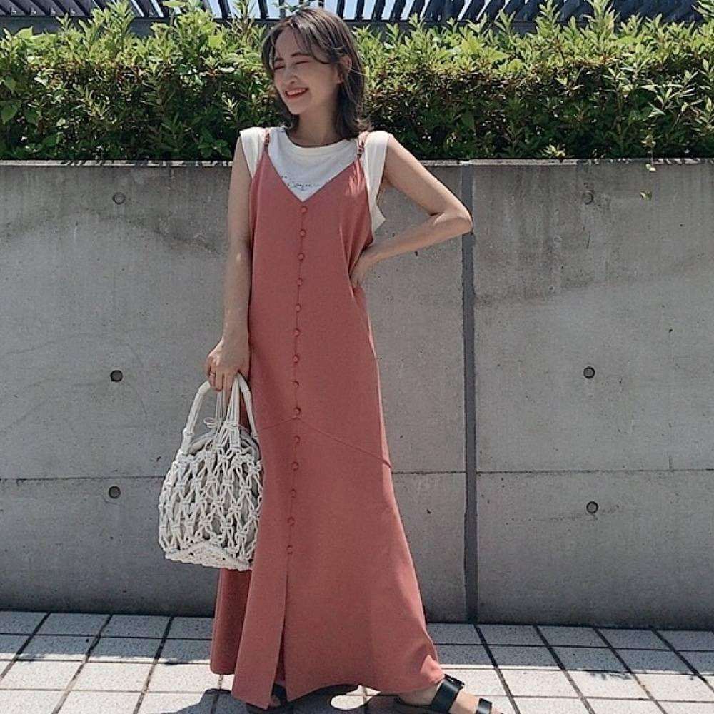 低身長だと似合わないと思ってない おすすめのキャミワンピースコーデ 4meee ワンピース プチプラ ドレス ファッションアイデア