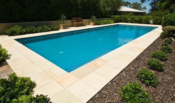 Excellent Inground Swimming Pools Idea For Shining Your House: Chic  Inground Swimming Pools In Standard Design Idea With Concrete Tile Edging  Completed With ...