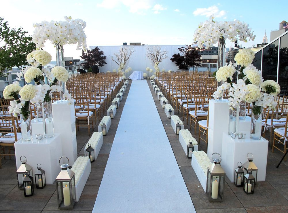 Beautiful Outdoor Wedding Ceremony At Tribeca Rooftop
