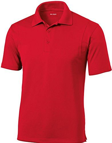 735434c0 DRIEQUIPtm Mens Moisture Wicking Micropique Golf PoloTrue RedL *** Continue  to the product at the image link.