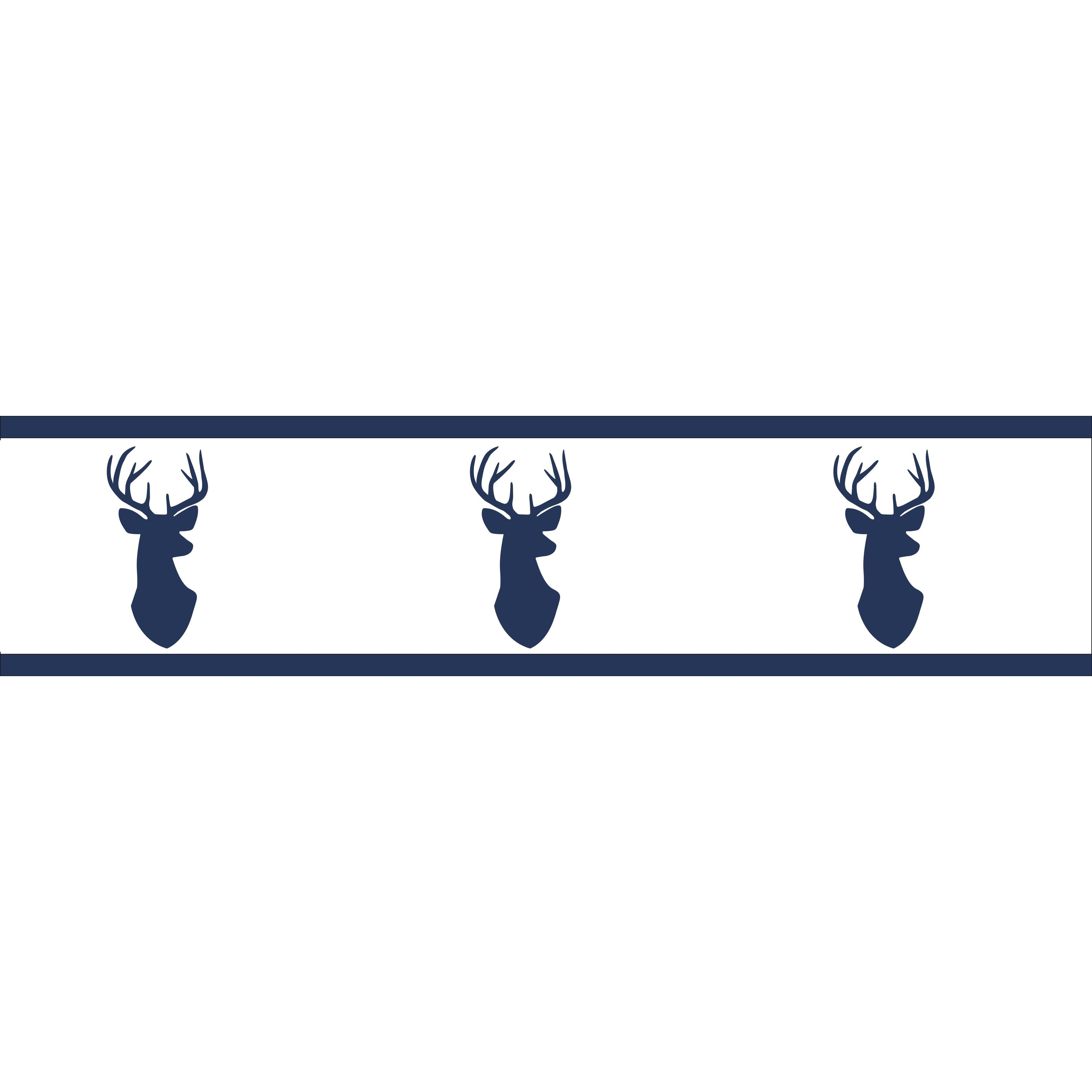 Sweet Jojo Designs Navy and White Woodland Deer Collection