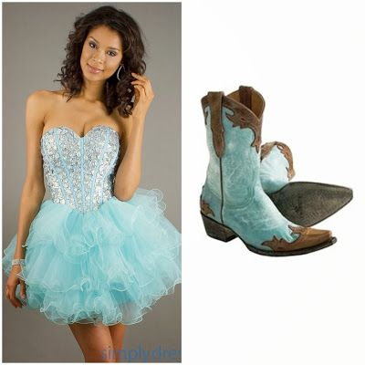 aef2d8906a1 Aqua Blue Country Western Quinceanera Theme (love the cow girl boots ...