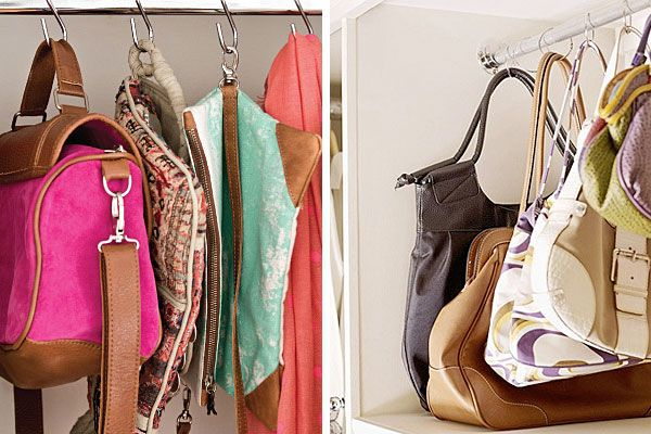Cómo ordenar tus carteras  Si tenés lugar, una de las mejores opciones es colgar las carters con ganchos, del barral. Foto:Archivo / Decorandomejor.com