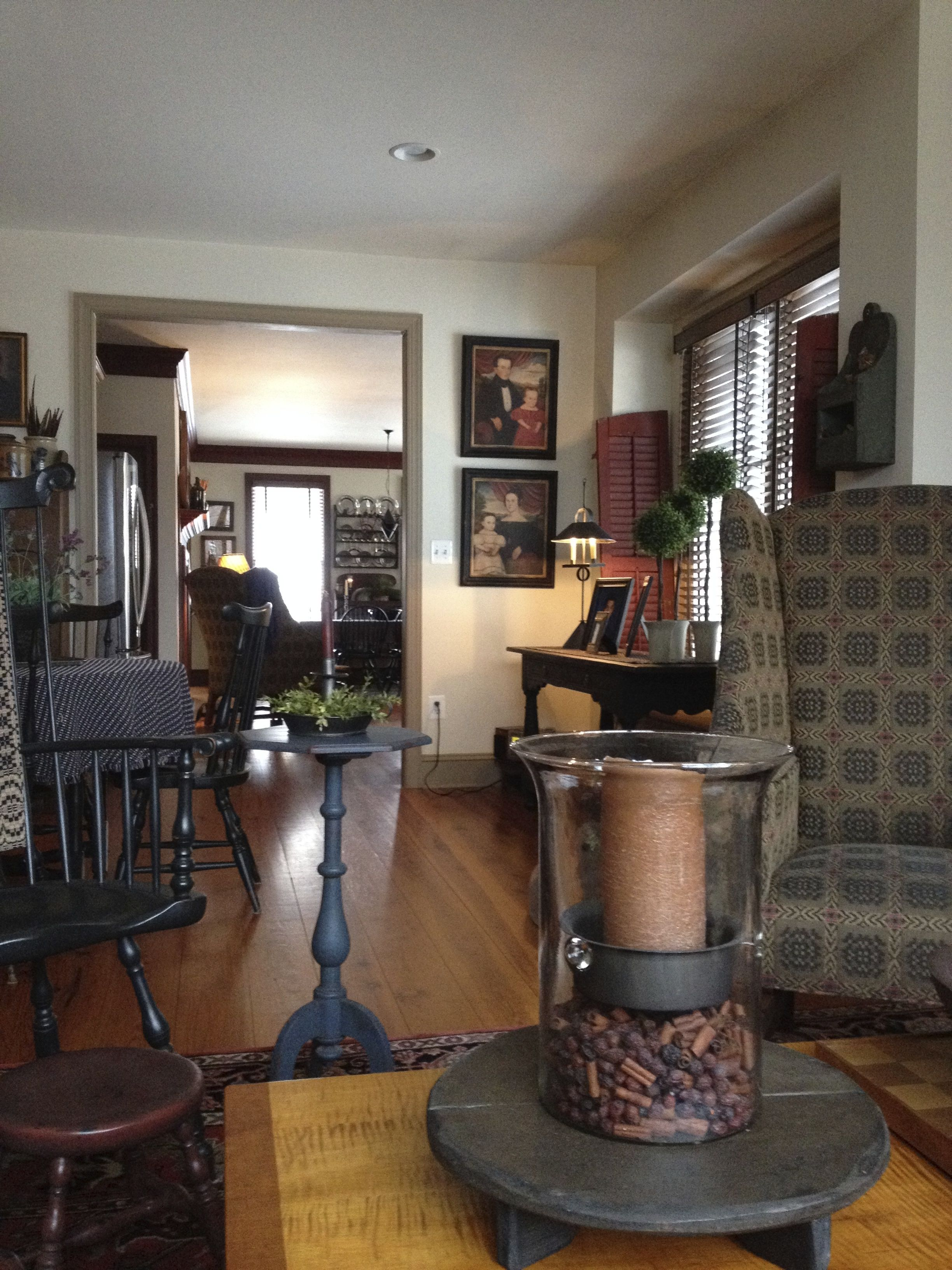 Table accent as a dining room center piece would be so - Primitive country living room ideas ...