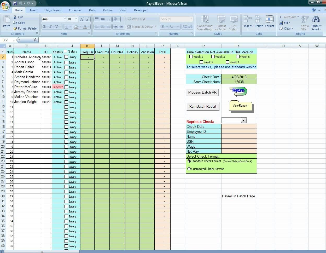 Using Excel To Process Payroll Dyi Payroll Template Payroll Excel