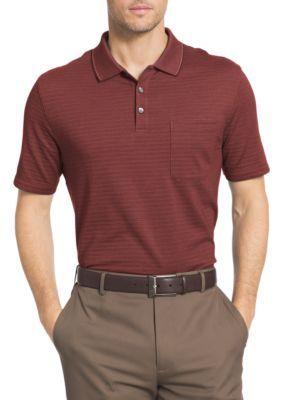 28180afcf Van Heusen Vino Big Tall Short Sleeve Stripe Jacquard Polo ...