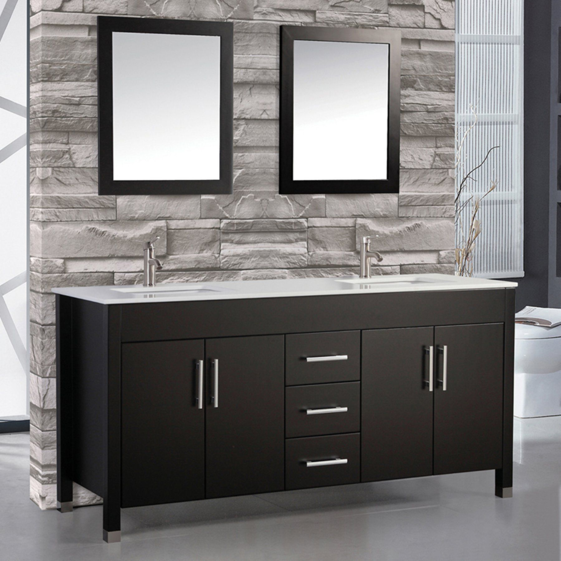 valencia walnut wn oak bathroom optional grey double modern rs buy vanities set vanity mirror mount inch wall