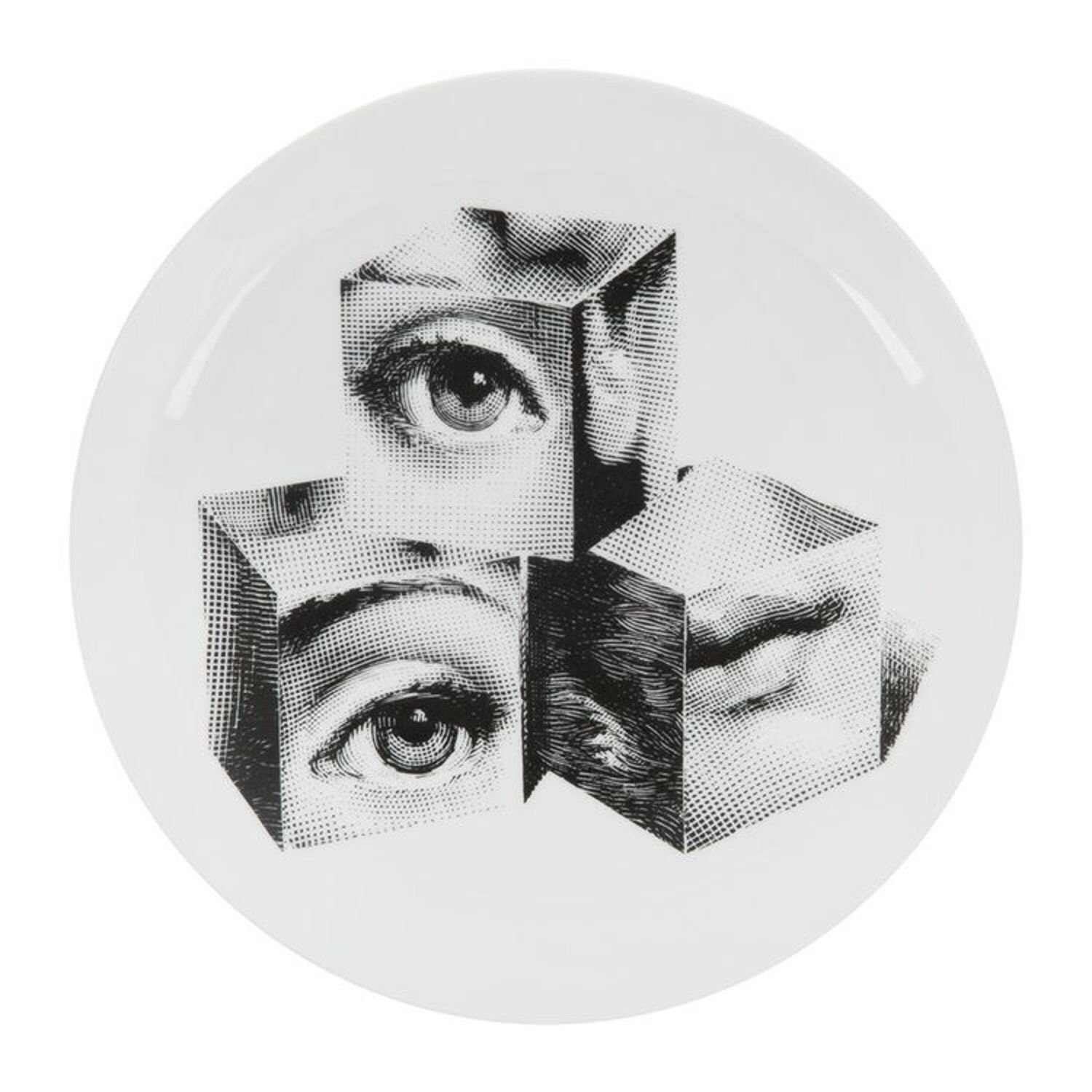 Fabulous Fornasetti Cube Face Decorative Plate 8 Inch Ceramic Wall Home Remodeling Inspirations Basidirectenergyitoicom
