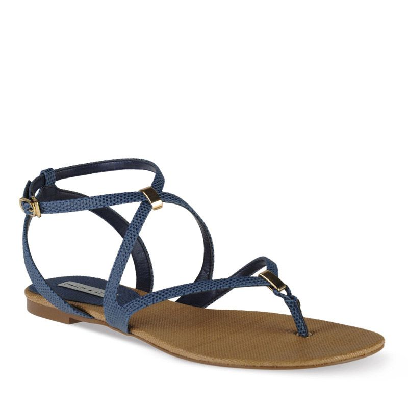 Strappy Flats - Blue - Flats - Shoes   CHARLES & KEITH