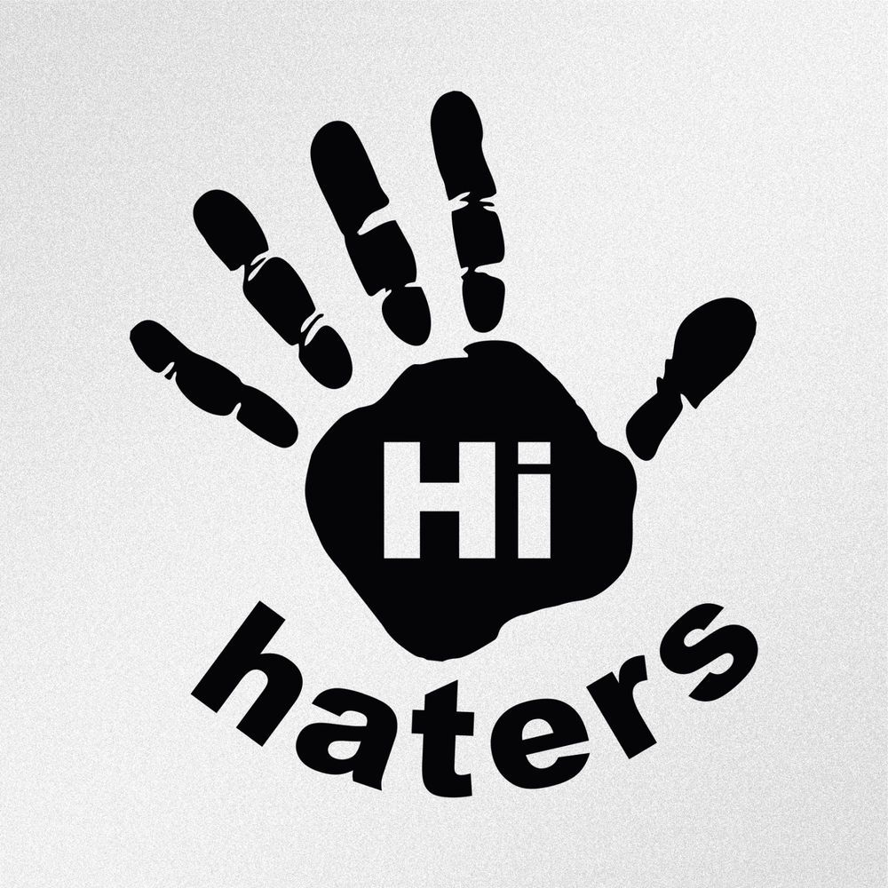 Details About Hi Haters Hand Print Car Laptop Motorbike
