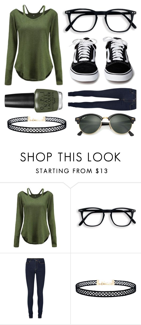 """""""Fall Olive"""" by velvetgirl10 on Polyvore featuring LULUS and Ray-Ban"""