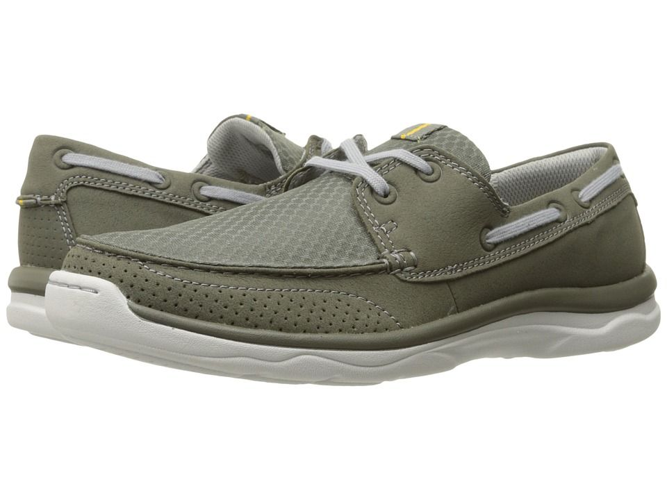 Clarks Marus Edge Olive Synthetic Men