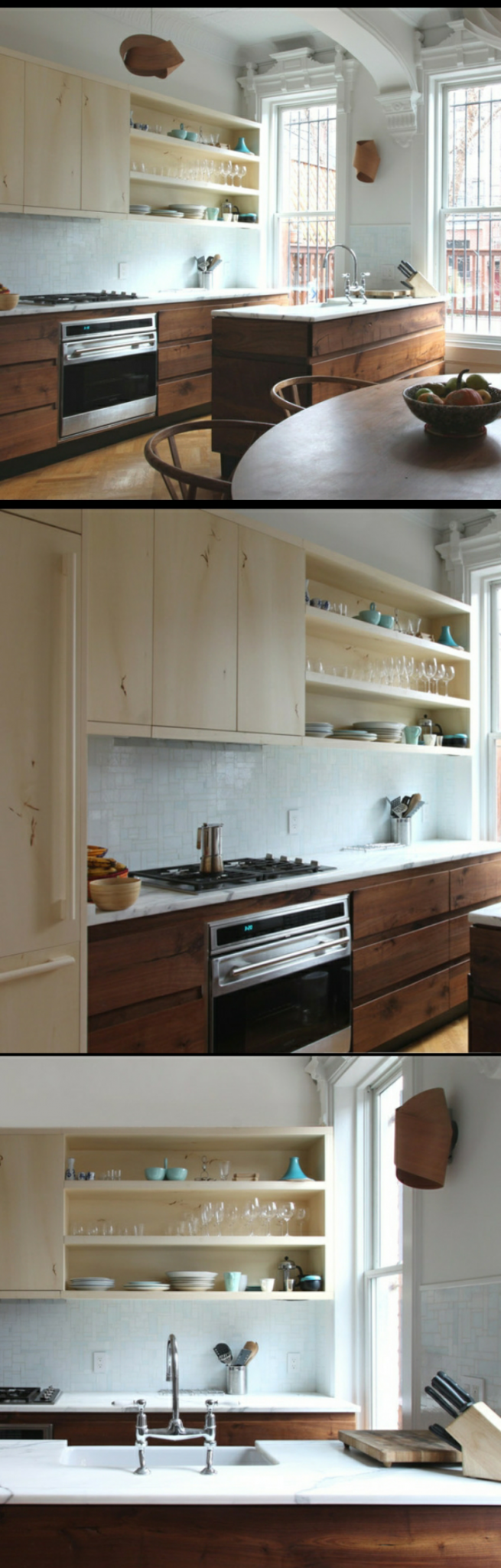Galley Kitchen Remodel Ideas (Small Galley Kitchen Design, Makeovers, and Plans with Pictures) #beforeafter #layout #small #interiordesign #countertops #floorplans #window #openshelving #diningrooms #butcherblocks #galleykitchenlayouts