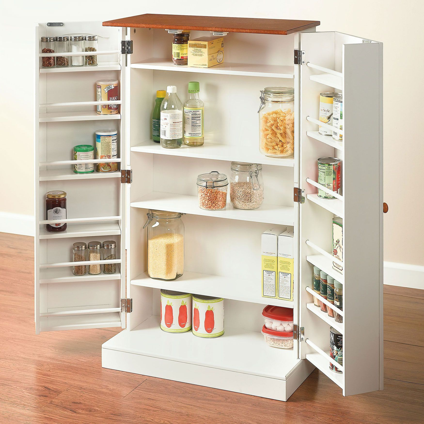Pantry storage for small spaces tiny space pinterest - Armarios espacios pequenos ...