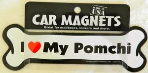Dog Bone Shaped Car Magnets I LOVE MY SILKY TERRIER