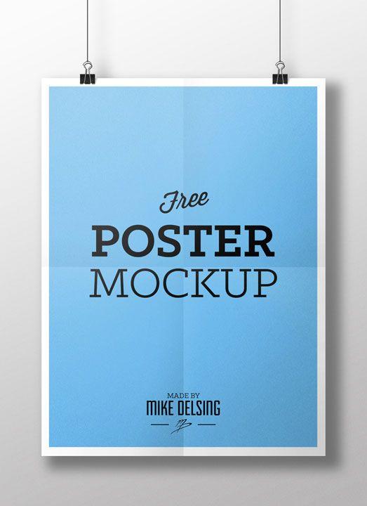 Free Poster Mockup Mike Delsing Portfolio Poster Mockup Free Poster Mockup