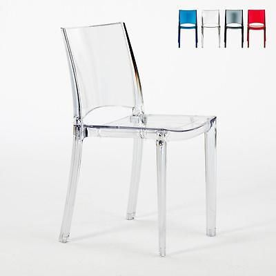 Grand Soleil B Side Stuhl Transparent Kuche Bar Polycarbonat