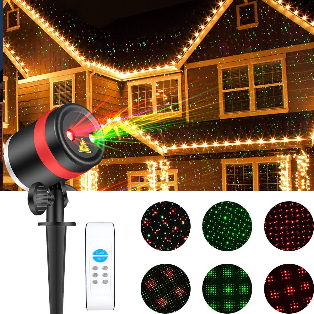 Christmas laser lights show red and green star ip65 waterproof christmas laser lights show red and green star ip65 waterproof outdoor laser light projector lightswith remote mozeypictures Images