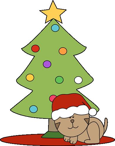 christmas cat clipart cat sleeping under a christmas tree clip art rh pinterest com cute christmas clip art images cute christmas clip art images