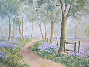 Watercolour paintings for sale and art commissions of UK landscape, houses, flowers and animals