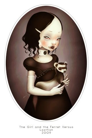 memento ... the girl and the ferret