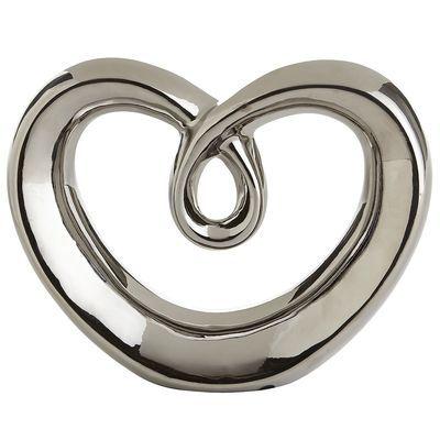 Silver Heart Sculpture Silver Accent Pieces Sculpture