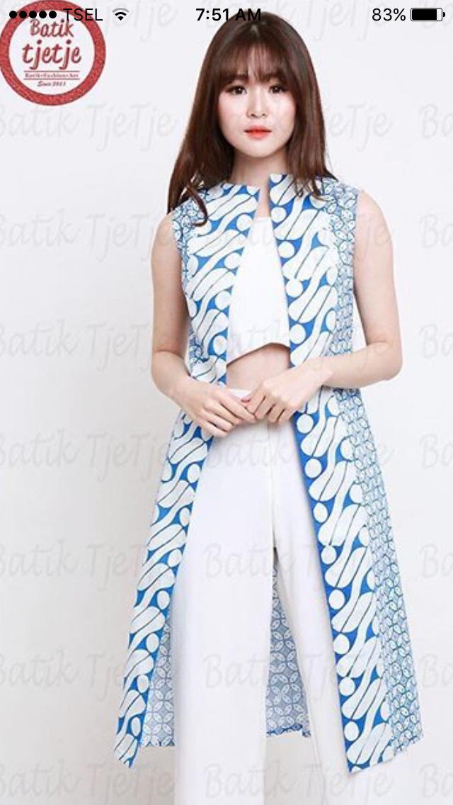 So Nice Batik Fashion Batik Dress Batik Blazer Batik Fashion