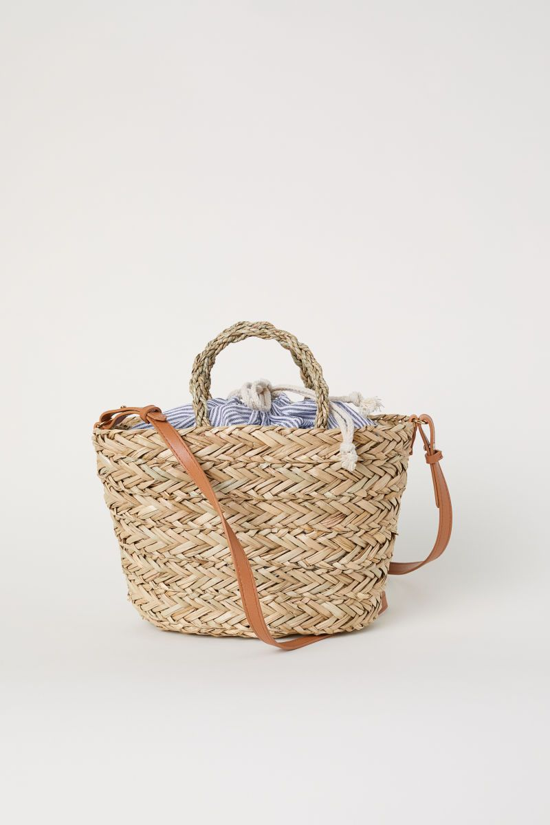 d18be712 Straw Bag with Fabric Bag | Natural | WOMEN | H&M US | Under $150 ...