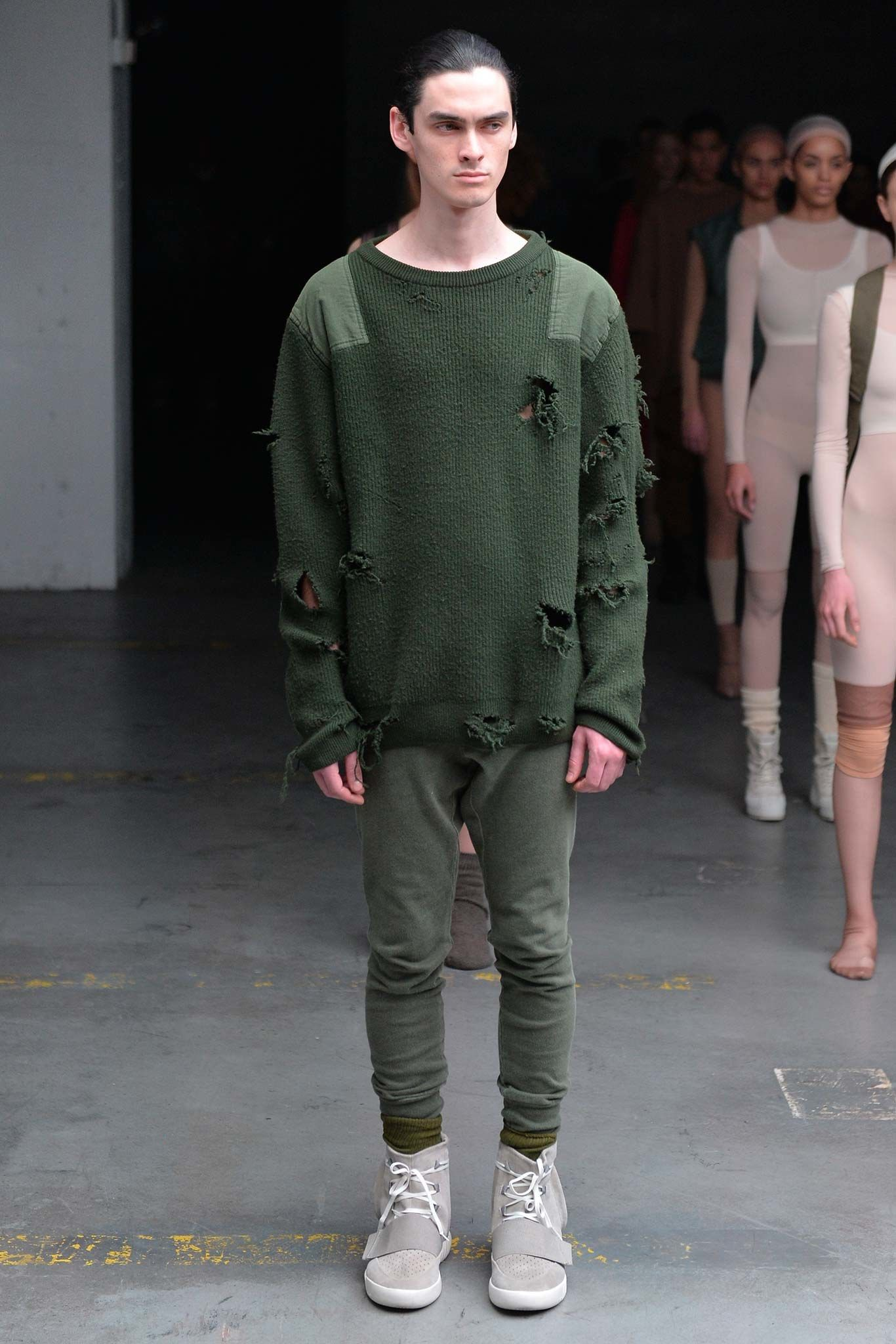 Kanye West X Adidas Originals Fall 2015 Menswear Fashion Show Yeezy Fashion Menswear Kanye West Adidas